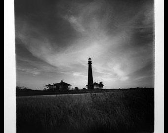port bolivar lighthouse, near galveston, texas