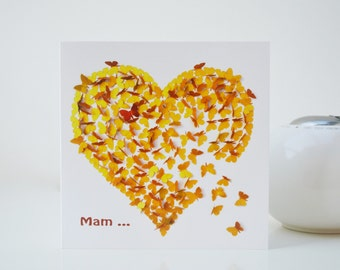 Mam Butterfly Card, Best Mam Card, Special Mam Card, Mam Birthday Card, Mam Heart Card, Mam card, Special Mum Card, Mum Birthday Card