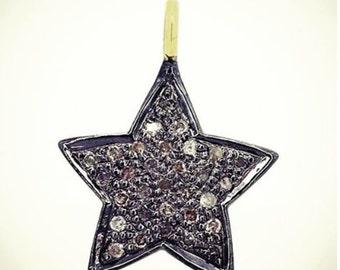 mini star champagne diamond pendant
