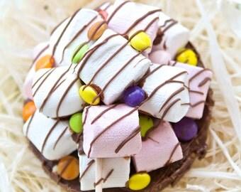 Chocolate Marshmallow Lollipop. Chocolate Gift. Chocolate Treat. Gift you can eat. Chocolate Pop. Novelty Chocolate Gift. Edible Treat.