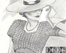 ALMOST FREE Instant PDF Vintage Twenties Crochet Pattern Booklet Style Creations 24 Pages of Ladies Flapper Patterns