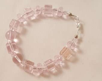 Pale Pink Variety - Glass Bead Bracelet - Pink Bracelet - Women's Bracelet - Women's Pink Bracelet - Pink - Pink Glass - Pink Jewelry - Pink