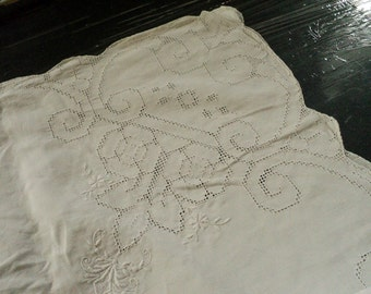 Linen tablecloth or cover tablecloth
