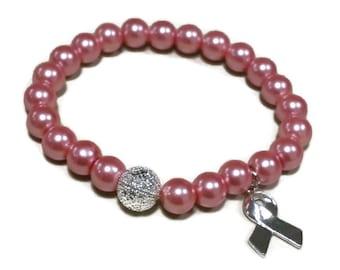 Hope for a Cure | Pink Breast Cancer Awareness  Bracelet