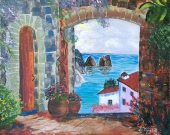 Capri - Original acrylic painting on canvas