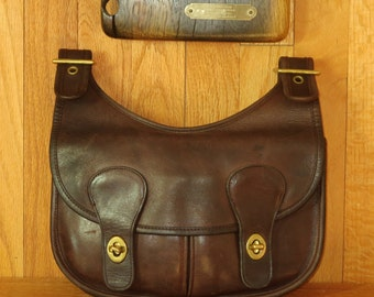 Coach Pony Express Mocha Leather Pouch- Made In The Factory In New York City- Very Good Condition- Rare