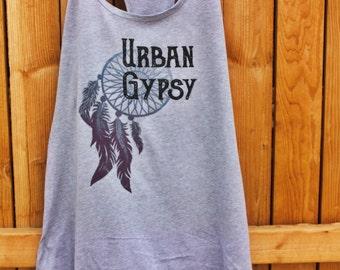 URBAN GYPSY medium grey tank, shirt