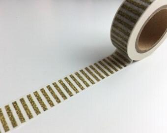 Gold Glitter Effect Stripe Washi