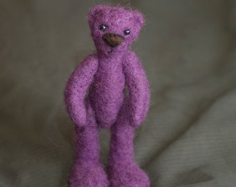 Needle felted bear,teddy bear,woolen toy, felted toy, felted animal, woolen bear, miniature, soft figurine, little bear