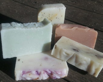SALE - Limited time only. 5 Handmade Soaps for the price of 4.