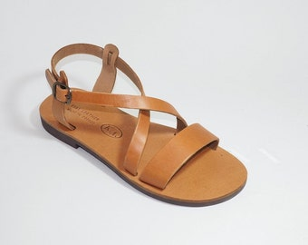 Greek Leather Sandals (39 - White)