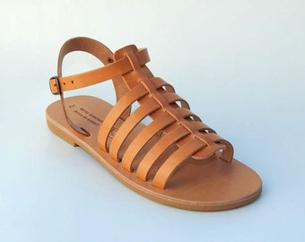 Greek Leather Sandals (38, 39, 40, 42 - Natural leather)