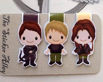 The Girl on Fire Magnetic Bookmarks || Set of Three