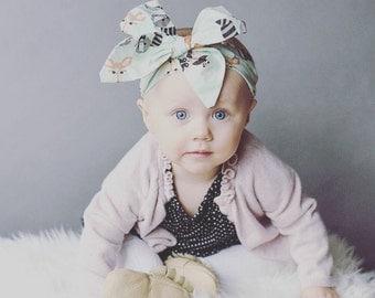 Baby Headband - Newborn Headband - Girls Headband - Big Bow Headband - Top Knot Headband - Bear Headband - Geometric Headband - Big Bows