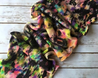 Hand Dyed Superwash Merino / Nylon / Stellina Sock Yarn - Graffiti