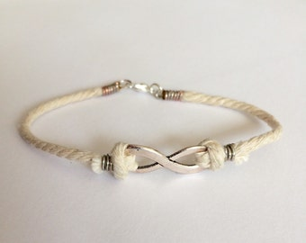 Handmade Infinity Rope Bracelet