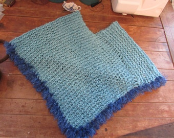 Blue Knitted Poncho - CLOSET CLEAN OUT