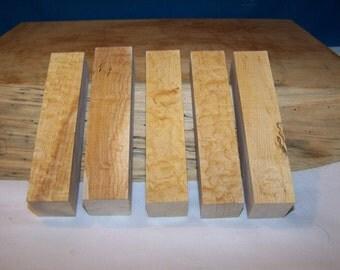 10 Blistery Sugar Maple Pen Blanks
