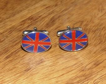 Union Jack Cufflinks,Great British gifts, Mens gifts, Enamel cufflinks, Union flag cufflinks