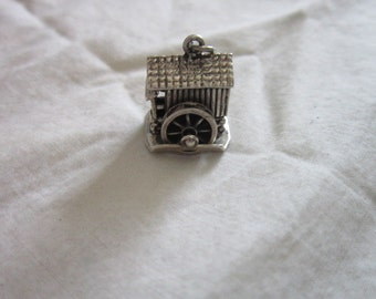 Vintage Beau Sterling Silver Charm Old Mill Mechanical Really Nice