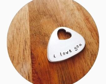 Heart Guitar Pick | Custom Guitar Pick |  Guitar Pick | Boyfriend Gift | Gift for him | Personal Gift | Musician Gift | Best Fr