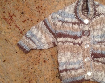 Knitted Baby Cable Cardigan