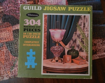 Guild Jigsaw Puzzle by Whitman ~ Old-Fashioned Still Life ~ 304 pieces