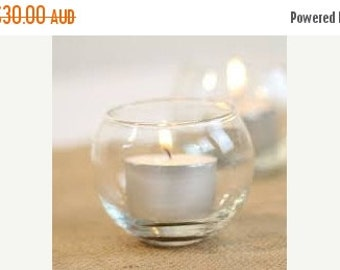 60% OFF 6x Mini Fish Bowl Vases, Fish Bowl Candle Holders, Glass Candle Holders, Tabletop Decor, Wedding Decor, Tea Light Candles, Votive Ca