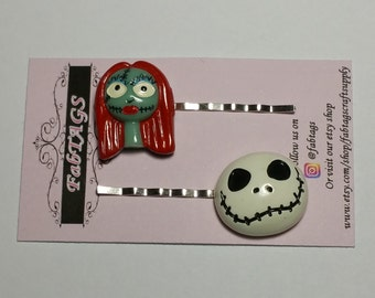 Jack and sally bobby pins hair accessories hair pins 2pc