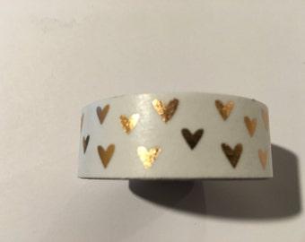 Gold Hearts Washi Tape