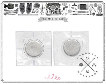 8PCS (4sets) Hidden Magnetic Snaps Sewing Purse Closure Fastener Magnetic Snaps PVC Coated