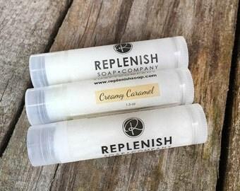 Lip Balm, Creamy Caramel Lip Balm, Handmade, Natural Lip Balm, Chapstick, Lip gloss, Valentines Day Gift, Lipstick, Favors, Gift for her