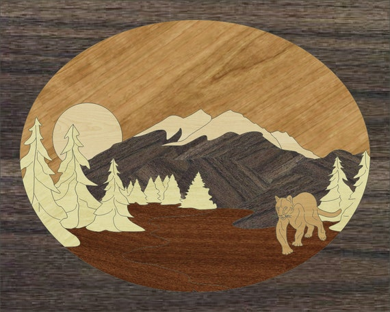 "8""x 10"" Marquetry Project Kit - Puma"
