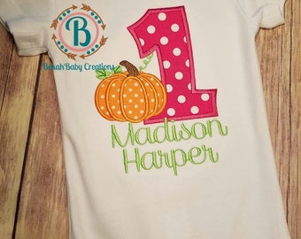 Pumpkin-1st Birthday shirt