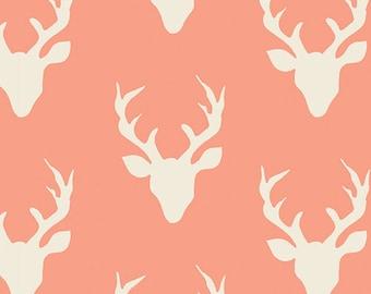 HELLO, BEAR - Buck Forest Peach - by Bonnie Christine for Art Gallery Fabrics HBR-4434-6