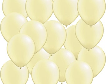 """12 Ivory Balloons 11""""  Superior Quality Qualatex Balloon, Wedding Shower , pastel party decor"""