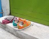 E-Taen Print Series collection: #RECTANGULARDIAMONDNo3 in #semiloafersneakers