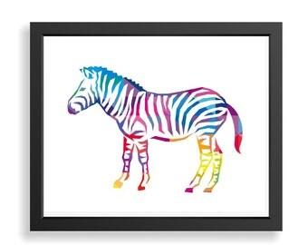 Zebra Art Print, Zebra Wall Art, Kids Wall Decor,Safari Animal Print, Nursery Wall Art, Zebra Poster, Zebra Art, Zoo Animal Art, Baby Gift