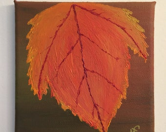 Autumn Leaf- An original acrylic painting.