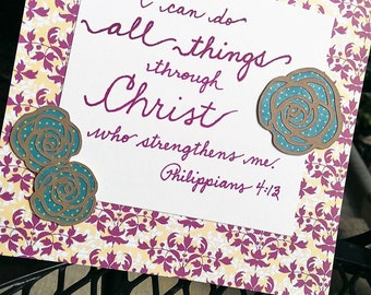 All Things Verse with Flowers - Cardstock and Paper