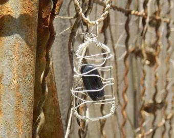 Caged Black Tourmaline