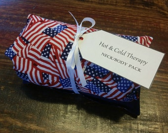 American Flag Hot & Cold Therapy Rice Pack