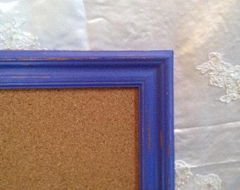 Corkboard Jewelry Board Memo Board  Bulletin Pin Board Periwinkle Purple Large