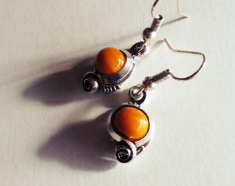 Earrings - orange saffron