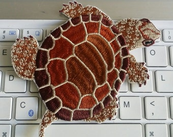 TURTLE patch Embroidered patch Iron on patch Sew on patch Applique