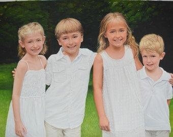 Custom portrait-custom family portrait-oil painting-custom oil portrait painting-painting from photo-childrens portrait-personalized ETSY