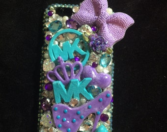 Iphone 6/6s bling case with hand painted pieces