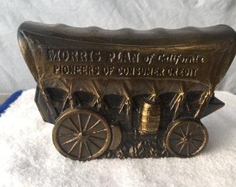 Vintage Banthrico Coin Bank -  Large Conestoga Wagon  (BTC08 )