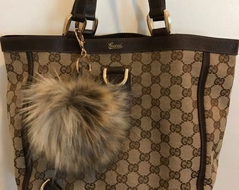 Gucci Silky Soft XL Faux Fur Pompom-upcycled authentic