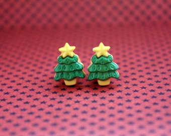 Christmas tree pine plugs for gauged ears 8mm 0g stretched